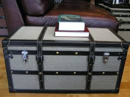 steamer trunk coffee table nautical shabby chic white side chest pottery barn