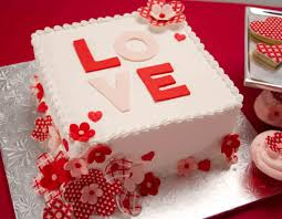Beautiful Birthday Cake For Husband Wife Valentines Day Or