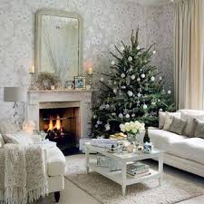 nature inspired living room decorating ideas white fireplace mante stone tile floor silver ceiling fan beadboard ceiling gray pattern couch