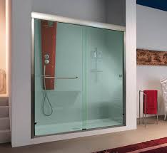 sleek and modern design in sliding shower doors