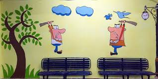 central hub for the entire it corridor of chennai and employees of paypal took it upon themselves to paint their signatures on the walls of a platform  on wall art painters in chennai with chennai railway stations now wear new colours