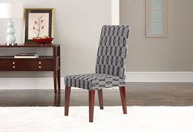 sure fit chair covers sure fit stretch short dining chair cover concerning outstanding model