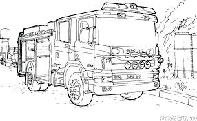 Truck Color Pages Free Fire Truck Coloring Pages To Print Engine