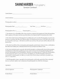 Photography Services Contract Cool Wedding Photography Contract Template Word Inspirational Sample