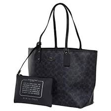 Coach F58293 REVERSIBLE CITY TOTE IN DENIM SIGNATURE
