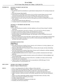 Recruiter Resume University Recruiter Resume Samples Velvet Jobs 1
