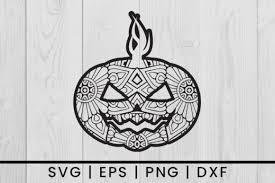 Ai (adobe illustrator) eps (encapsulated postscript). Halloween Pumpkin Mandala Svg Vector Graphic By Damasyp Creative Fabrica