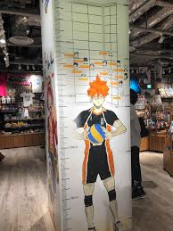 Haikyuu Height Chart Height Chart At Jump Shop In Umeda Haikyuu
