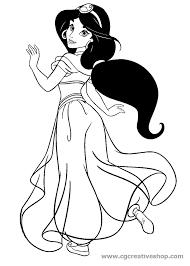 Jasmine Fidanzata Di Aladin Disegno Da Colorare