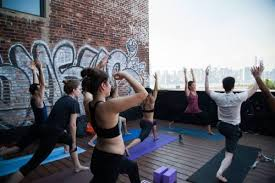 namaste to spring on greenpoint loft s roof deck with hosh yoga this sunday 4 9