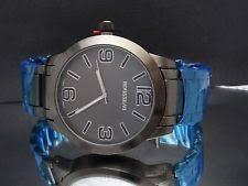 rousseau watch rousseau 9357 stainless steel gunmetal men s watch