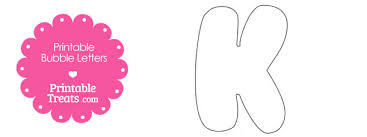 free printable bubble letter k template 610x229