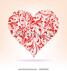 Red Heart Patterns Awesome Patterns Red Heart On White Background Stock Vector Royalty Free