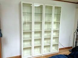 bookcases glass door bookcase bookshelves with doors white billy bookshelf ikea backless