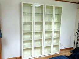 bookcases glass door bookcase bookshelves with doors white billy bookshelf ikea backless
