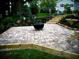 how to install a paver patio on slope ideas
