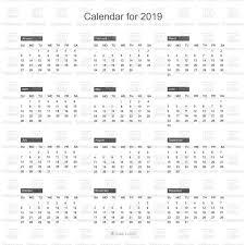 Free Calendar 2019 Layout Free Vector Image Vector Artwork Of