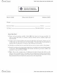 Study Guides For Math 1132q At University Of Connecticut