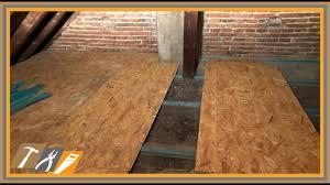 Transportkisten, betonschalung, fertigteilestrich oder beplankung: Fussboden Vom Dachboden Mit Osb Platten Verkleiden 10 Youtube
