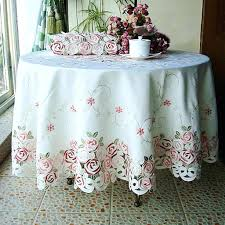 shabby chic table cloth tablecloth rose bush embroidery round clothes . shabby  chic table cloth ...