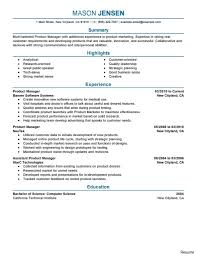 Product Manager Resume Sample Product Manager Resumes Resume Management And Marketing Executive 18
