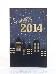 New Year Craft Ideas Happy New Year Card Golden Moments
