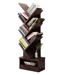 the tree shaped bookcase comes with of triangle branch with a mutil display unit