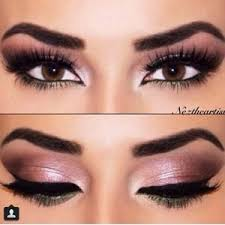 prom makeup for brown eyes and pink dress google search