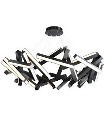 modern forms pd 64861 bk chaos led 61 inch black chandelier ceiling light