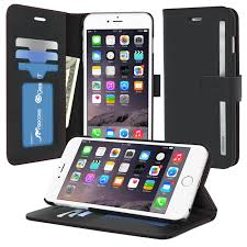 roocase prestige wallet case folio flip cover with stand for iphone 6 plus