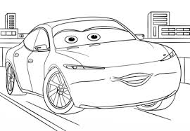 Small Picture Natalie Certain from Cars 3 coloring page Free Printable