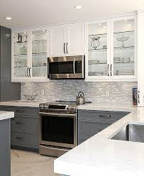 MODERN White Marble Glass Kitchen Backsplash Tile Backsplash Extraordinary Backsplash In Kitchen Pictures