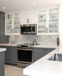 MODERN White Marble Glass Kitchen Backsplash Tile Backsplash Extraordinary Backsplash In Kitchen Pictures