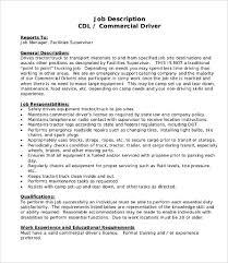 10 Driver Job Description Templates Pdf Doc Free Premium