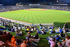 Lawn Seats Durham Bulls Athletic Park Taking In The Game