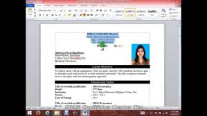 How To Make Resume Format On Microsoft Word Write Cv With Hd