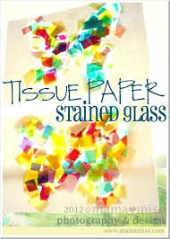 erfly stained glass craft tissue paper crafts window