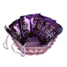 dairy milk chocolate gift packs. Fine Packs Cadbury Dairy Milk Basket Chocolate Hamper 500 Gms On Gift Packs