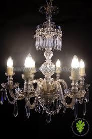 beautiful italian crystal glass legged chandelier circa 1930