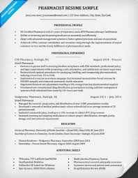 Pharmacist Resume Sample Best Pharmacist Resume Sample Writing Tips Resume Companion Zasvobodu