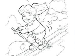 Skiing Coloring Pages Jet Ski Printable Coloring Pages Skiing ...