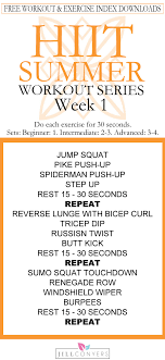 free hiit summer workout series we ll work together this summer and set ourselves