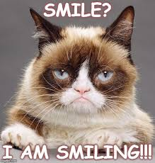 grumpy cat i am smiling. Unique Cat Grumpy Cat Smile With I Am Smiling U