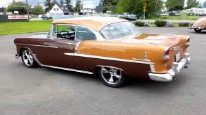 All Chevy chevy 2 2 : 1955 Chevrolet 2 Door Hard Top Brown - YouTube