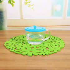 placemats for round table awesome 4 pcs set hollow lace table mat round shape silicone heat resistant