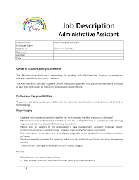 Administrative Assistant Job Description Resume Homework Help For StudentsParents How Resume Added Duties Same 19