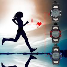 hillside fire outdoor el backlight sports watch pedometer heart heart rate monitor