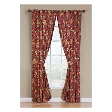 Red Curtains Living Room Shop Waverly Felicite 84 In Crimson Cotton Back Tab Single Curtain