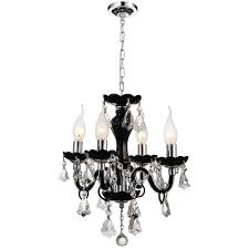 alluring black traditional chandelier 6 0001876 14 victorian crystal round mini clear crystals jet frame 4 lights