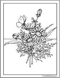 Click on each small picture. 102 Flower Coloring Pages Customize And Print Ad Free Pdf